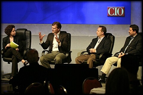 Martha Heller, Russ Finney, Randy Krotowski, and Andre Spatz discuss global IT at the CIO April 2004 Perspectives conference